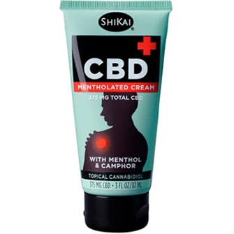 HIKAI - CBD MENTHOLATED CREAM 375MG TOTAL CBD - (with Menthol & Camphor) - 0.8oz