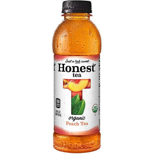 HONEST TEA - ORGANIC TEA - NON GMO - GLUTEN FREE - (Peach) - 16.9oz