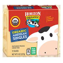 HORIZON - ORGANIC AMERICAN SINGLES CHEESE - NON GMO - 8oz