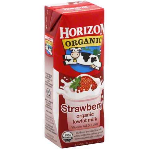 HORIZON - ORGANIC LOW FAT MILK - (Strawberry) - 8oz
