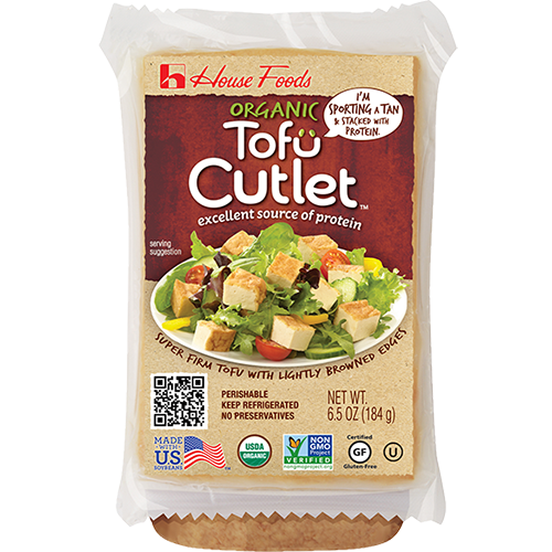 HOUSE FOODS - ORGANIC TOFU CUTLET - 6.5oz