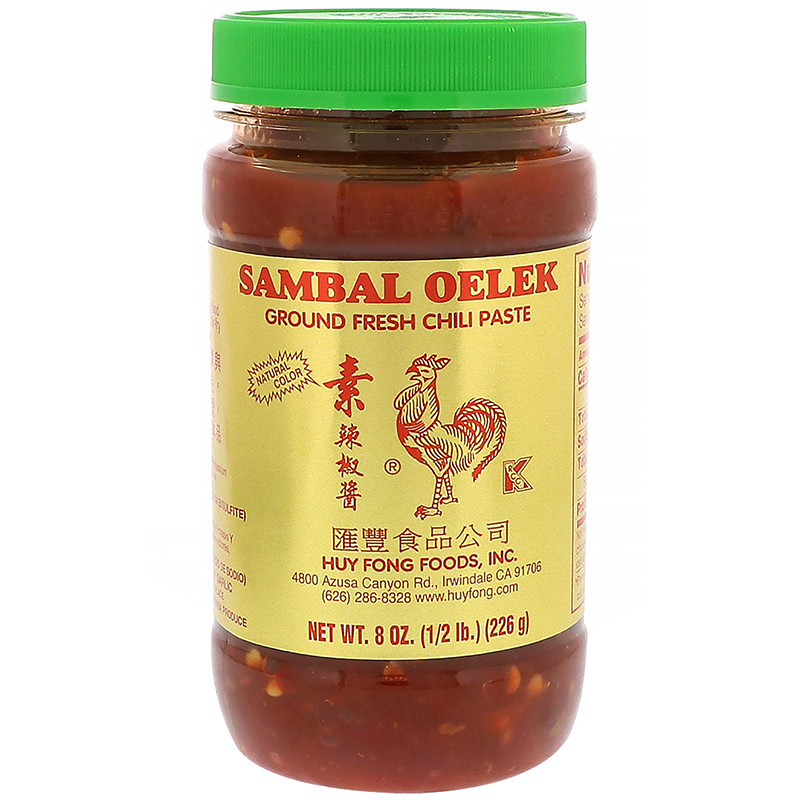 HUY FONG - SAMBAL OELEK GROUND FRESH CHILI PASTE - 8oz