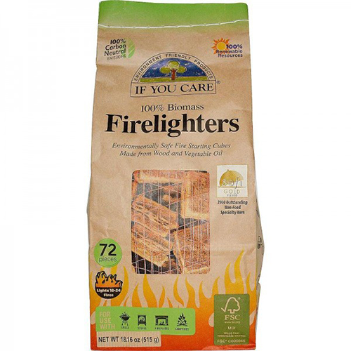 IF YOU CARE - 100% BIOMASS FIRE LIGHTERS - 72PCS