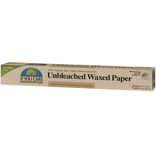 IF YOU CARE - 100% SOYBEAN WAX UNBLEACHED WAXED PAPER - 75 sqft