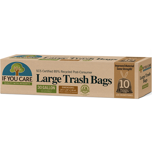 IF YOU CARE - LARGE TRASH BAGS - 10 BAGS