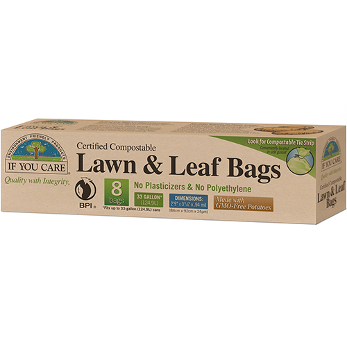 IF YOU CARE - LAWN & LEAF BAGS - 8 BAGS