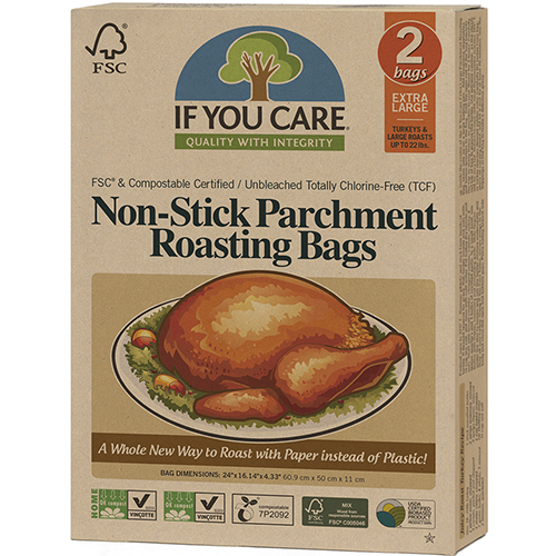 IF YOU CARE - NON STICK PARCHMENT ROASTING BAGS - (Extra Large) - 2 BAGS