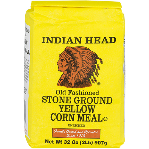 INDIAN HEAD - OLD FASHIONED STONE GROUND YELLOW CORN MEAL - 32oz