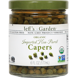 JEFF'S NATURALS - ORGANIC IMPORTED NON PAREIL CAPERS - 6oz
