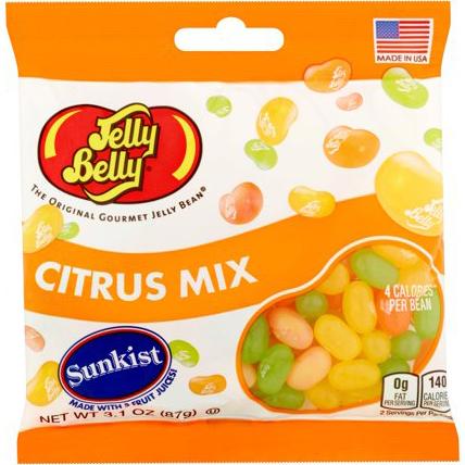 JELLY BELLY - THE ORIGINAL GOURMET JELLY BEAN - (Citrus Mix) - 3.1oz