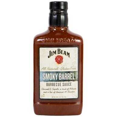 JIM BEAM - BBQ SAUCE - ALL NATURAL - GLUTEN FREE - (Smoky Barrel) - 18oz