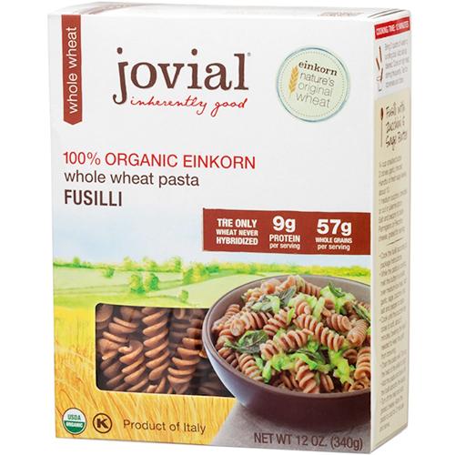 JOVIAL - 100% ORGANIC EINKORN WHOLE WHEAT PASTA - (Fusilli) - 12oz