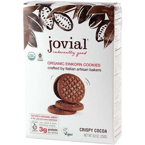 JOVIAL - ORGANIC EINKORN COOKIES - (Crispy Cocoa) - 8.8oz