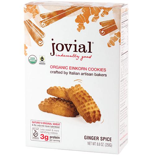 JOVIAL - ORGANIC EINKORN COOKIES - (Ginger Spice) - 8.8oz