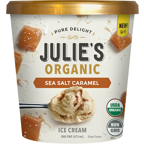 JULIE'S - NON GMO - GLUTEN FREE - NON DAIRY - (Sea Salt Caramel) - 16oz