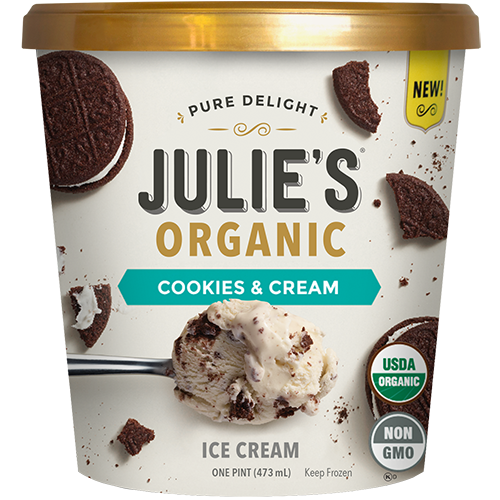 JULIE'S - NON GMO - NON DAIRY - (Cookies & Cream) - 16oz
