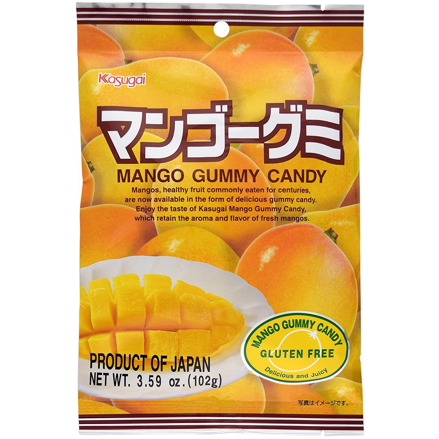 KASUGAI - MANGO GUMMY CANDY - GLUTEN FREE - 3.59oz