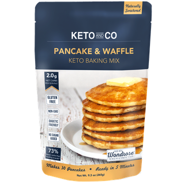 KETO AND CO - KETO BAKING MIX - (Pancake & Waffle) - 9.3oz