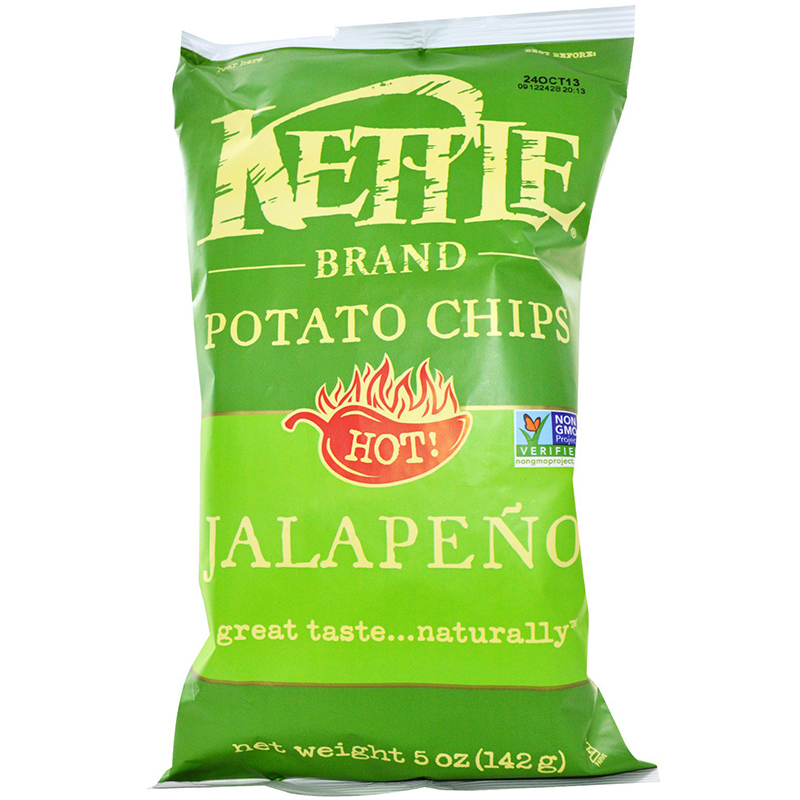 KETTLE - POTATO CHIPS - GLUTEN FREE - NON GMO - (Jalapeno) - 5oz