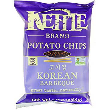 KETTLE - POTATO CHIPS - GLUTEN FREE - NON GMO - (Korean BBQ) - 2oz