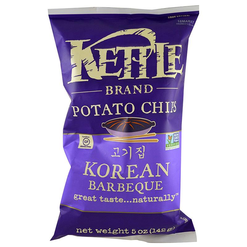 KETTLE - POTATO CHIPS - GLUTEN FREE - NON GMO - (Korean BBQ) - 5oz