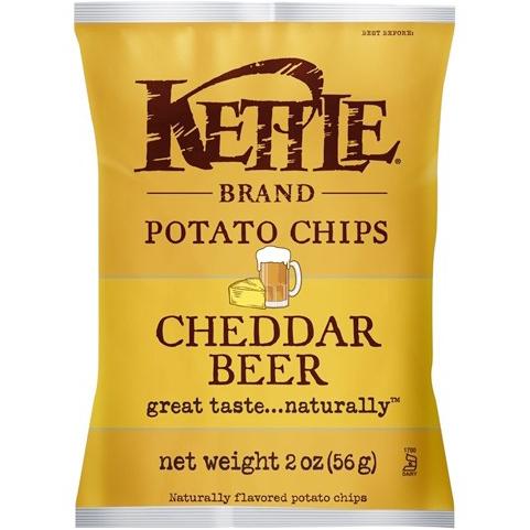 KETTLE - POTATO CHIPS - GLUTEN FREE - NON GMO - (New York Cheddar) - 2oz