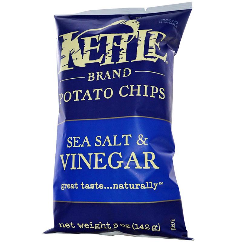 KETTLE - POTATO CHIPS - GLUTEN FREE - NON GMO - (Sea Salt & Vinegar) - 5oz