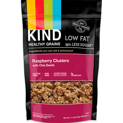 KIND - HEALTHY GRAINS - (Raspberry Clusters with Chia Seeds) - 11oz