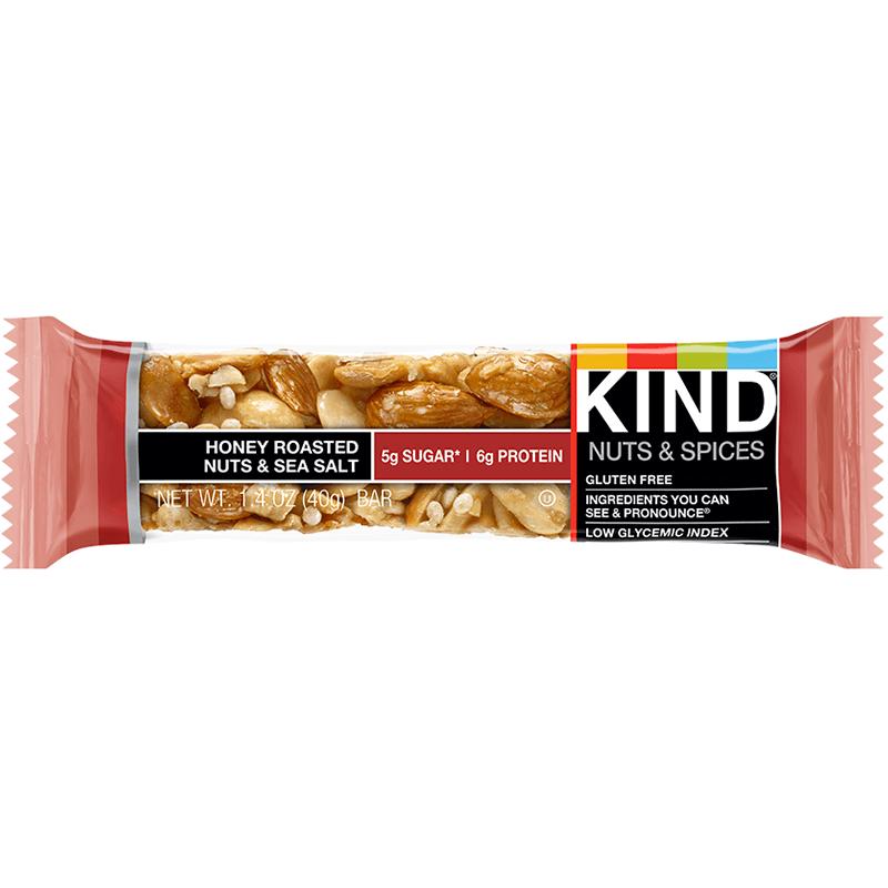 KIND - NUT & SPICY - GLUTEN FREE - (Honey Roasted Nuts & Sea Salt) - 1.4oz