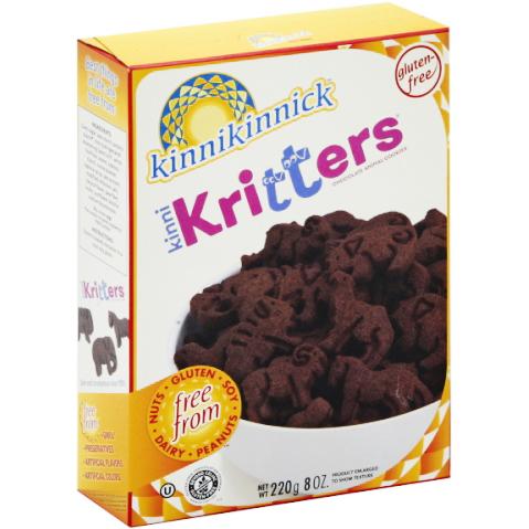 KINNIKINNICK - KRITTERS - (Chocolate Style Animal Cookies) - 8oz