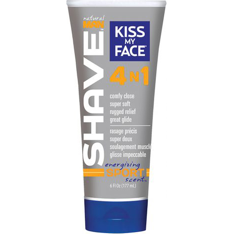 KISS MY FACE - NATURAL MAN SHAVE 4N1 - (Energizing Sport Scent) - 6oz