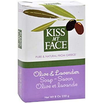 KISS MY FACE - PURE & NATURAL FROM GREECE SOAP - SAVON - (Olive & Lavender) - 8oz