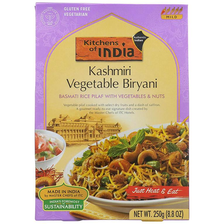 KITCHENS OF INDEA - NATURAL - GLUTEN FREE - (Kashmiri Vegetable Biryani) - 8.8oz