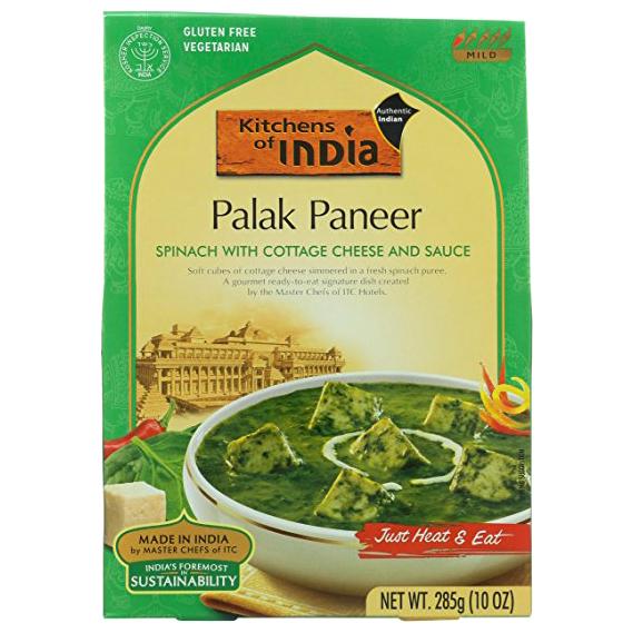 KITCHENS OF INDIA - NATURAL - GLUTEN FREE - (Palak Paneer) - 10oz