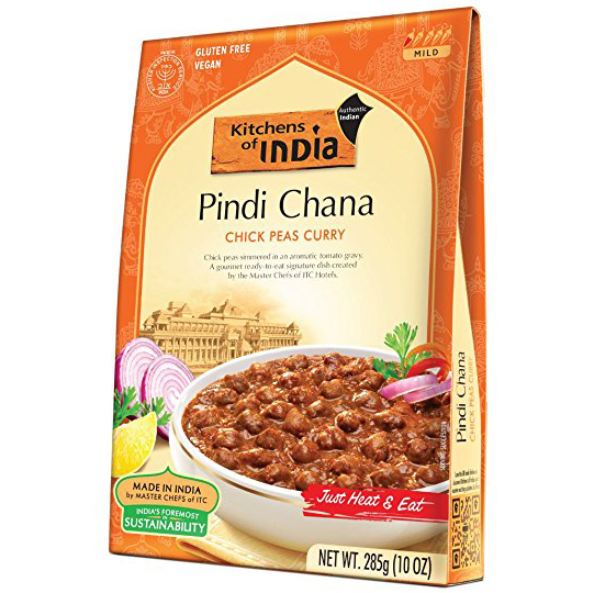KITCHENS OF INDIA - NATURAL - VEGAN - GLUTEN FREE - (Pindi Chana) - 10oz