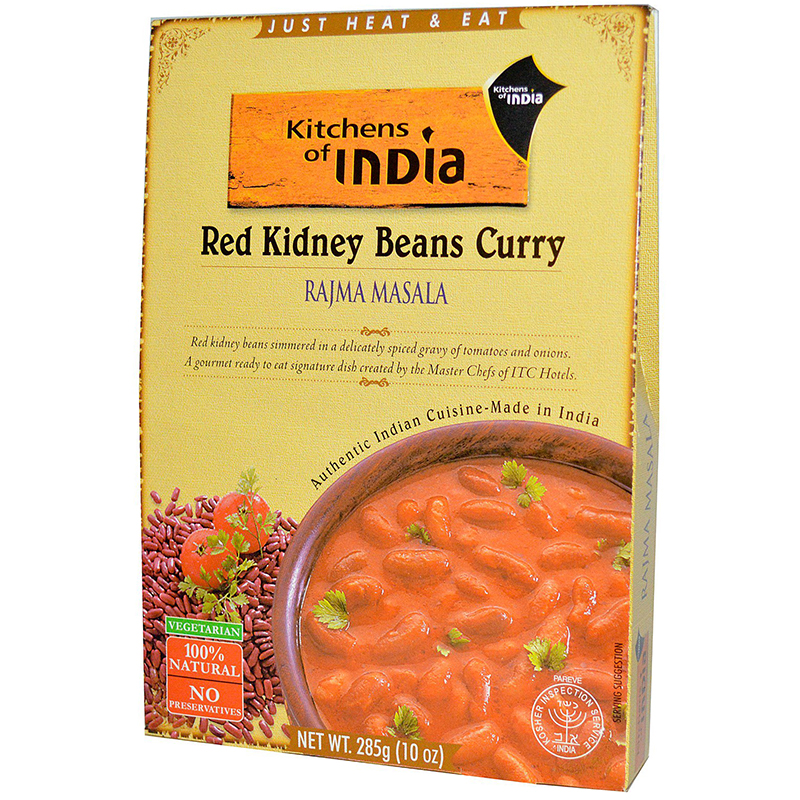 KITCHENS OF INDIA - RED KIDNEY BEANS CURRY - NATURAL - (Rajma Masala) - 10oz