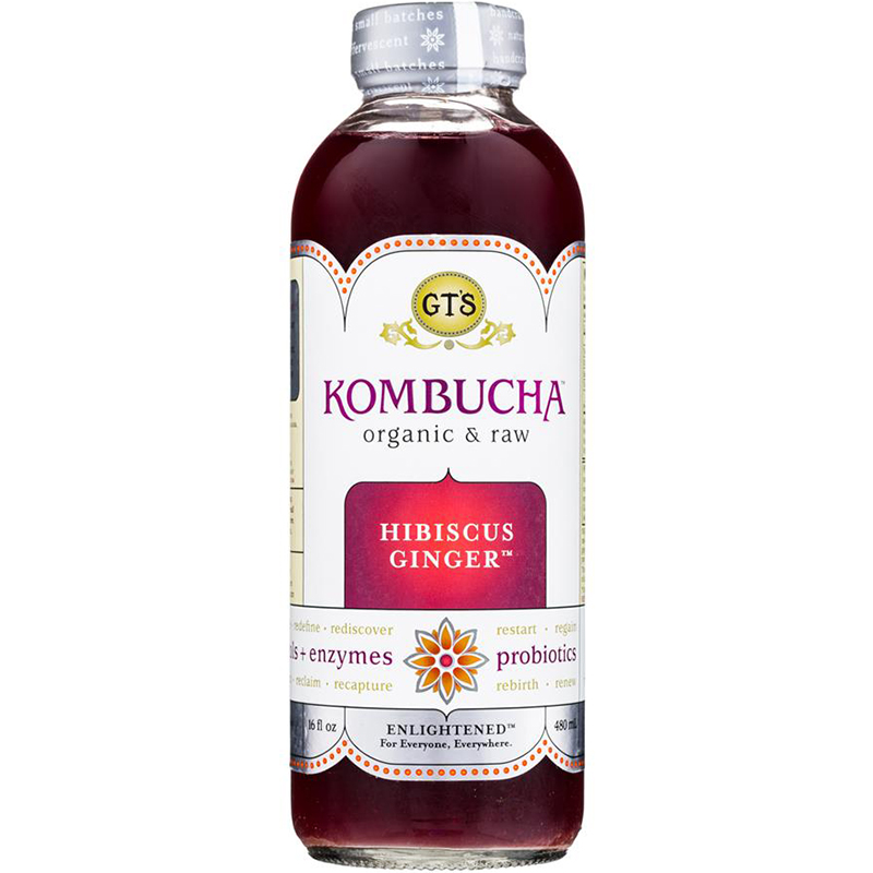 GTS - KOMBUCHA - (Hibiscus Ginger) - 16oz