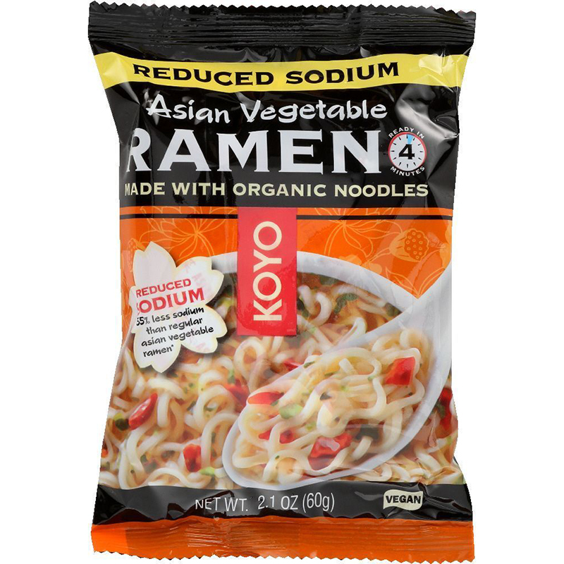 KOYO - RAMEN - ORGANIC - VEGAN - (Asian Vegetable/Reduced Sodium) - 2.1oz
