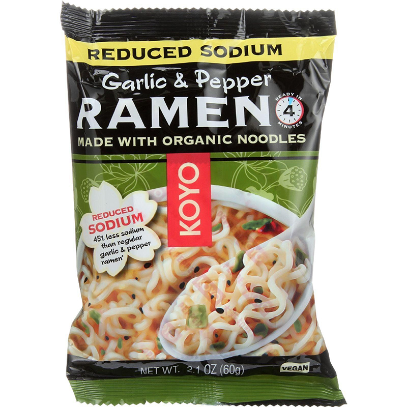 KOYO - RAMEN - ORGANIC - VEGAN - (Garlic & Pepper/Reduced Sodium) - 2.1oz