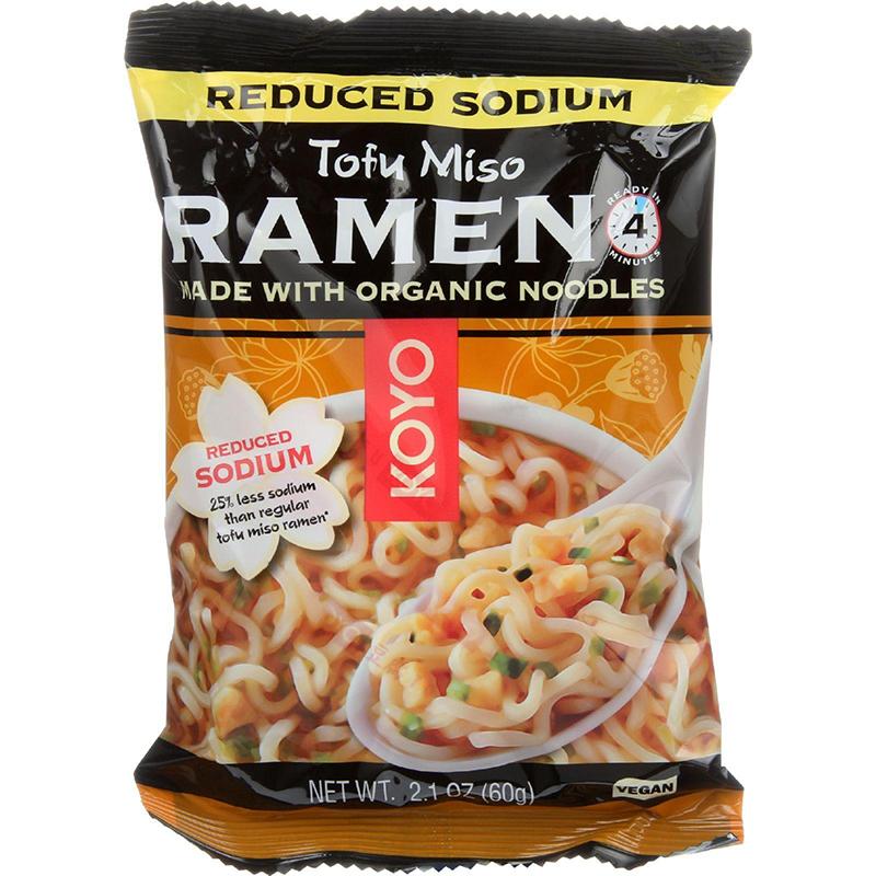 KOYO - RAMEN - ORGANIC - VEGAN - (Tofu Miso/Reduced Sodium) - 2oz