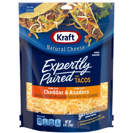 KRAFT - CHEDDAR & ASADERO EXPERTLY PAIRED for Tacos - 8oz