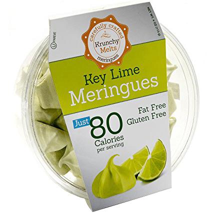 KRUNCHY MELTS - MERINGUES JUST 80 CALORIES PER SERVING - GLUTEN FREE - (Key Lime) - 4oz