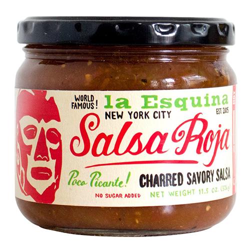LA ESQUINA - SALSA ROJA CHARRED HOT SALSA - GLUTEN FREE - VEGAN - 11.5oz