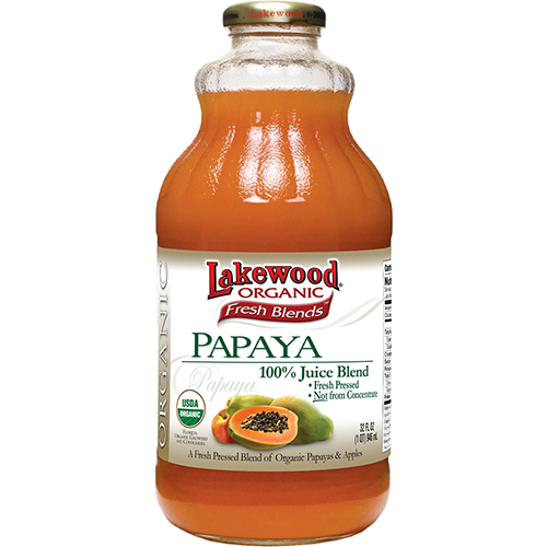 LAKEWOOD - ORGANIC PAPAYA - NON GMO - 32oz
