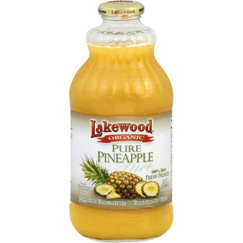 LAKEWOOD - ORGANIC PURE PINEAPPLE - NON GMO - 32oz