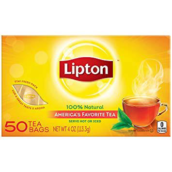 LIPTON - 100% NATURAL AMERICA'S FAVORITE TEA - 50bags