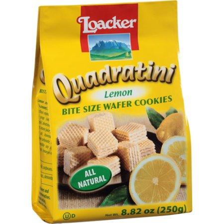 LOACKER - QUADRATINI - WAFER COOKIES - (Lemon) - 8.82oz
