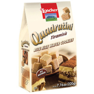LOACKER - QUADRATINI - WAFER COOKIES - (Tiramisu) - 8.82oz
