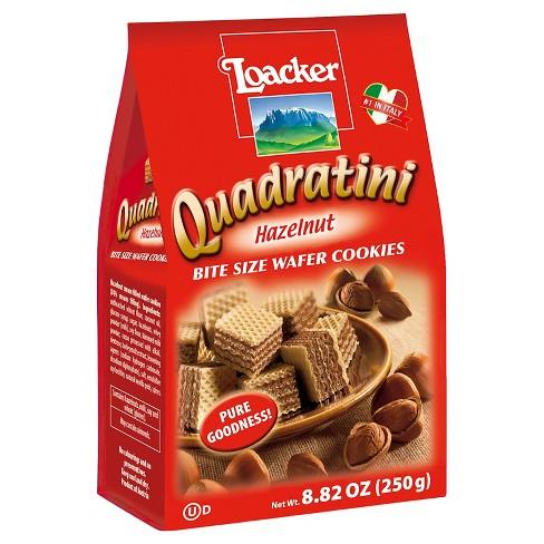 LOACKER - QUADRATINI - WAFER COOKIES - (Hazelnut) - 8.82oz