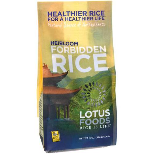 LOTUS FOODS - HEIRLOOM FORBIDDEN RICE - 15oz